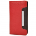 "i-6.0-RD Protective PU Case w/ Strap for Samsung i9152 / i9200 / Galaxy Mega 5.8~6.0"" - Red + Coffee"