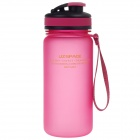 UZSPACE High-Quality-Leak Proof Polierte Bunte Flasche mit Elastic Cover - Deep Pink (550ml)