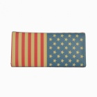 Creative Flag of the United States Design PU 3-Fold Long Wallet - Blue + Yellow + Red