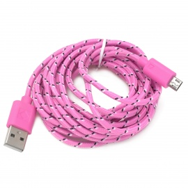 USB 2.0 to Micro 5pin Data / Charging Cable for Samsung - Pink (300cm)