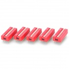 UL94V Mini 8 Pin Slide Switches for Electronic DIY - Red + White (5 PCS)