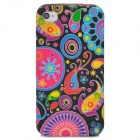 Painting Pattern Protective TPU Back Case for Iphone 4 / 4S - Multicolored