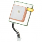 SiRF III  EM408 GPS Navigator Module w/ Ceramic Antenna / RS232 Output - Silver + White + Brass