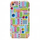 Painting Letters Pattern Protective TPU Case for Iphone 4 / 4S - Multicolored