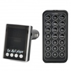"CQ-006 1.2 ""LED FM Transmitter / MP3-Player w / TF / SD / USB + Remote Controller - Schwarz"