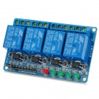 4-Channel 24V Opto-isolator Relay Module w/ High Level Trigger - Blue