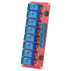 8-Channel 12V Relay Module W/ Optocoupler for Arduino - Red + Blue