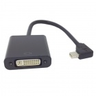 CY DP-065-RI Right Angle 90' Mini DisplayPort DP Male to DVI Female Cable for Macbook & ATI - Black