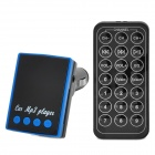 "CQ-006 1.2 ""LED FM Transmitter / MP3-Player w / TF / SD / USB + Fernbedienung - Schwarz + Blau"