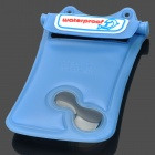 WP-i10 Waterproof Protective Plastic Case w/ Strap for Iphone 4 / 4S / 5 - Blue
