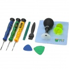 BEST BST-601B 10-in-1 Professional Repairing Tool Kit for Iphone / Samsung + More - Multicolored