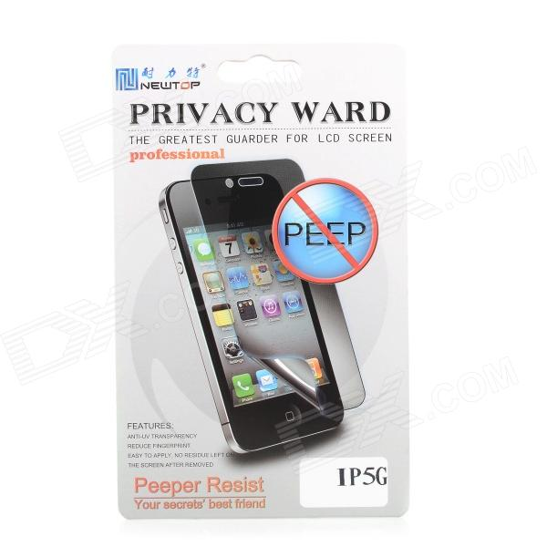 Newtop Privacy Protective Plastic Clear Screen Guard for Iphone 5 - Black the white guard