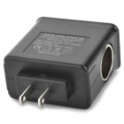 2-in-1 8W US Plugs Power Adapter w/ Dual USB / 12V Cigarette Lighter Socket for Iphone / Ipad / Ipod