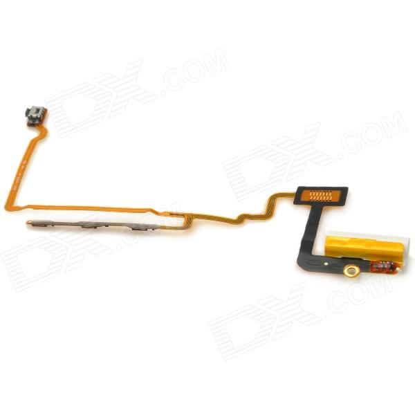 Replacement PVC + Aluminum Alloy Switch / Audio Ribbon Cable for Ipod Nano 7 - Black + Golden