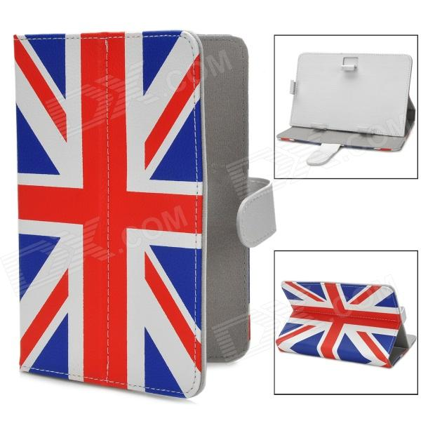 UK Flag Style PU Leather Case for Samsung P3100 / Lenovo A3000 / Vido Nexus 7 - Blue + Red + White suck uk