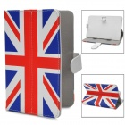 UK Flag Style PU Leather Case for Samsung P3100 / Lenovo A3000 / Vido Nexus 7 - Blue + Red + White
