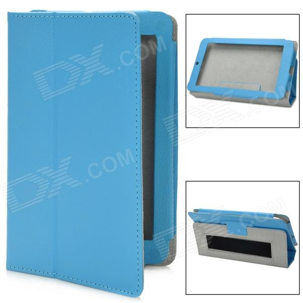 Stylish Protective PU Leather Case for Asus ME172V - Blue