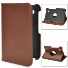 Protective 360 Degree Rotation PU Leather Case for Samsung P3120 / P3110 / P3100 - Brown