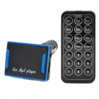 "CQ-004 1.5"" LED Car FM Transmitter / MP3 Player w/ TF / SD / USB + Remote Controller - Black + Blue"