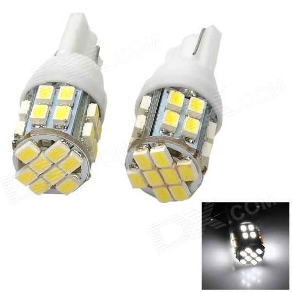 LY399 T10 2.4W 120lm 6000K 24-1206 SMD LED White Car License Plate Lamps - White + Yellow (2 PCS)