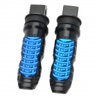 Universal Aluminum Alloy DIY Motorcycle Rear Foot Pegs - Black + Blue (2 PCS)