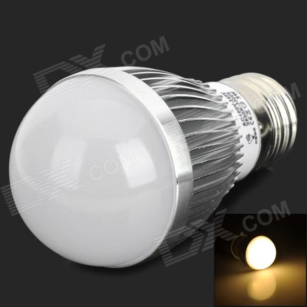 E27 3W 3300K 120lm 6-LED Warm White Light Bulb - White (AC 100~240V) e14 3w 240 270lm 3000k 3500k candle style warm white light bulb