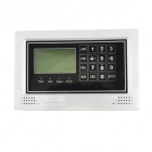 606B GSM Home Burglar Alarm System / Wired & Wireless Zone / LCD Touch Keypad - White + Black + Grey