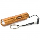 3W 30lm LED White 1-Mode Flashlight - Golden (1 x AA)