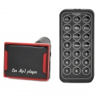 "CQ-004 1.5 ""LED FM Transmitter / MP3-Player w / TF / SD / USB + Fernbedienung - Schwarz + Rot"