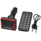 "CQ-004 1.5"" LED Car FM Transmitter / MP3 Player w/ TF / SD / USB + Remote Controller - Black + Red"
