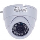 "Paisan PS-3412CF 1/3"" CCD 600TVL Surveillance Dome Camera w/ 24-IR LED - White"
