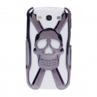 Skull Style Protective Electroplating Plastic Case for Samsung Galaxy S3 / i9300 - Iron gray