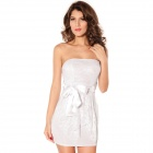 LC2866 Fashionable Sexy Double-Layer Package Hip Tutu Dress for Women - White (Free Size)