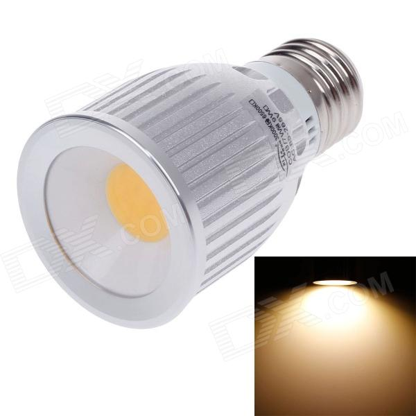 ZIYU ZY-0810-007 E27 7W 630lm 3000K COB LED Warm White Light Lamp Bulb - Silver + White (85~265V) ziyu zy 0814 005 7w 1200lm 470nm 120 led blue light decorative lamp strip white 12m 220 240v