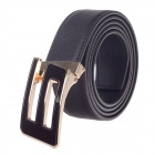 Rich Age Fashionable Men's Cow Split Leather Waist Belt - Black + Golden + Brown
