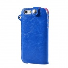 Protective PU Leather Case / Hanging Protection Bag for iPhone 5 - Blue
