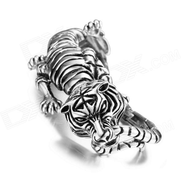 Фото - eQute Fashion 316L Titanium Steel Tiger Bracelet - Silver equte fashion men s nature tiger eye agate chatoyancy big dragon pattern bead bracelet black