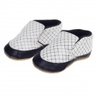 Cute Simple PU + Cotton Baby Shoes - Black + White (9~12 Months / Pair)