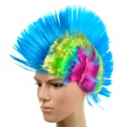 Fashion Comb Punk Wig for Dance Party - Blue + Purple + Yellow