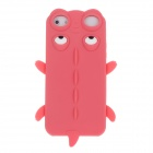 Cute Crocodile Style Protective Silicone Back Case for Iphone 4 / 4S - Red + White + Black