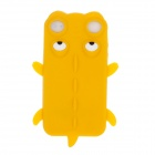 Cute Crocodile Style Protective Silicone Back Case for Iphone 4 / 4S - Yellow + White + Black