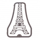 Openwork Style Eiffel Tower Shape Stainless Steel Bookmark - Silver