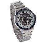 EYKI W8495AG-B Fashionable Hollow Stainless Steel Self-Winding Mechanical Men's Wrist Watch - Silver