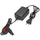 C5801 12V Battery Smart Charger for Motorcycle / Electric Cars - Black + Red (AC 100~240V)
