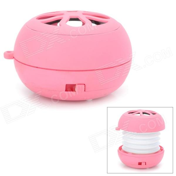TUNEWEAR X9 Hamburg Style Portable Mini Rechargeable Speaker - Pink + White