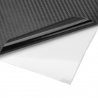 H02T DIY Carbon Fiber 3D Decorative PVC Sticker for Car - Black (63cm x 300cm)