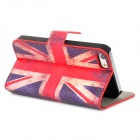 Fashion UK Flag Pattern PU Leather Case for Iphone 5 - Red + Blue + White