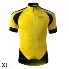 SPAKCT S13C012 Short Sleeve Men's Cycling Clothes - Black + Yellow (Size XL)