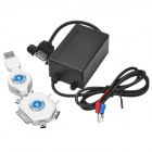 Convenient DIY USB Charger for Motorcycle - Black