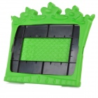 35039 Cute Standing Crown Style EVA Back Case for Ipad MINI - Green